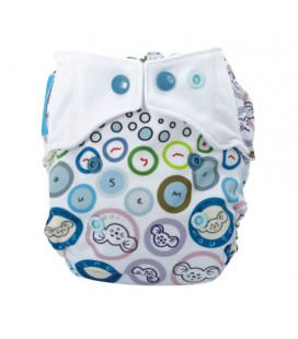 Pieluszka AIO (All-In-One), BUBBLE GUM, newborn, od 3,8 kg do 7 kg, MOMMY MOUSE