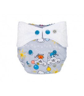 Pieluszka AIO (All-In-One), BALONIK, newborn, od 3,8 kg do 7 kg, napki, MOMMY MOUSE