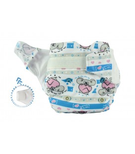 Pieluszka AIO (All-In-One), MOJE SERDUSZKO, newborn, od 3,8 kg do 7 kg, rzep, MOMMY MOUSE