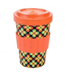 Kubek z bambusa, 400 ml, Retro Flowers, WoodWay