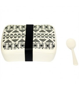 Snack box woodway z bambusa, aztec white  black, woodway